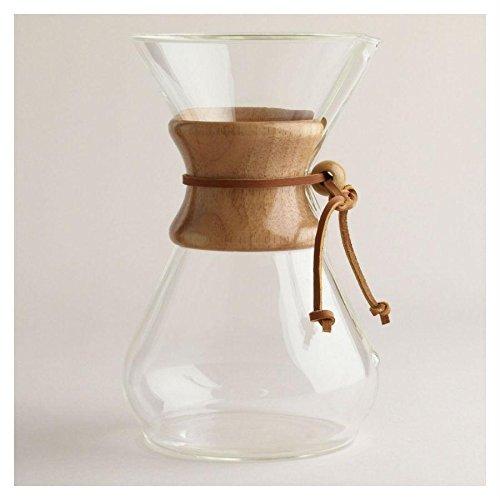 Chemex Kaffeekaraffee mit Holzhals - 8 Tassen
