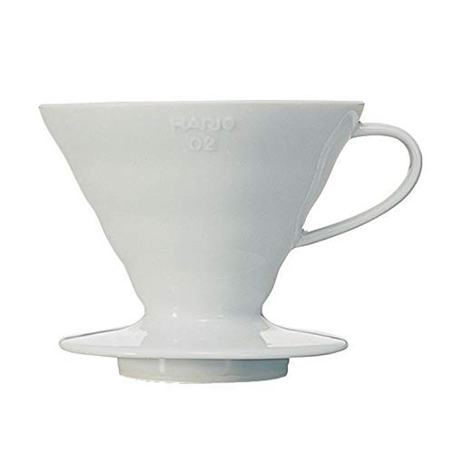 Hario VDC-02W V60 Kaffeefilterhalter, Porzellan,...