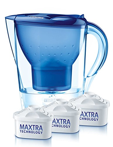 BRITA Wasserfilter Marella Cool blau inklusive 3...