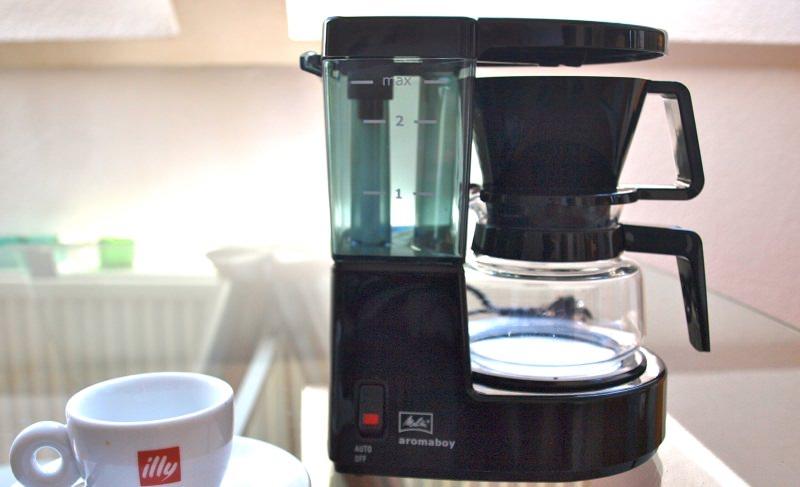 Die Melitta Aromaboy ist die perfekte Camping Kaffeemaschine - wenn ein 230V Stromanschluss zur Verfügung steht